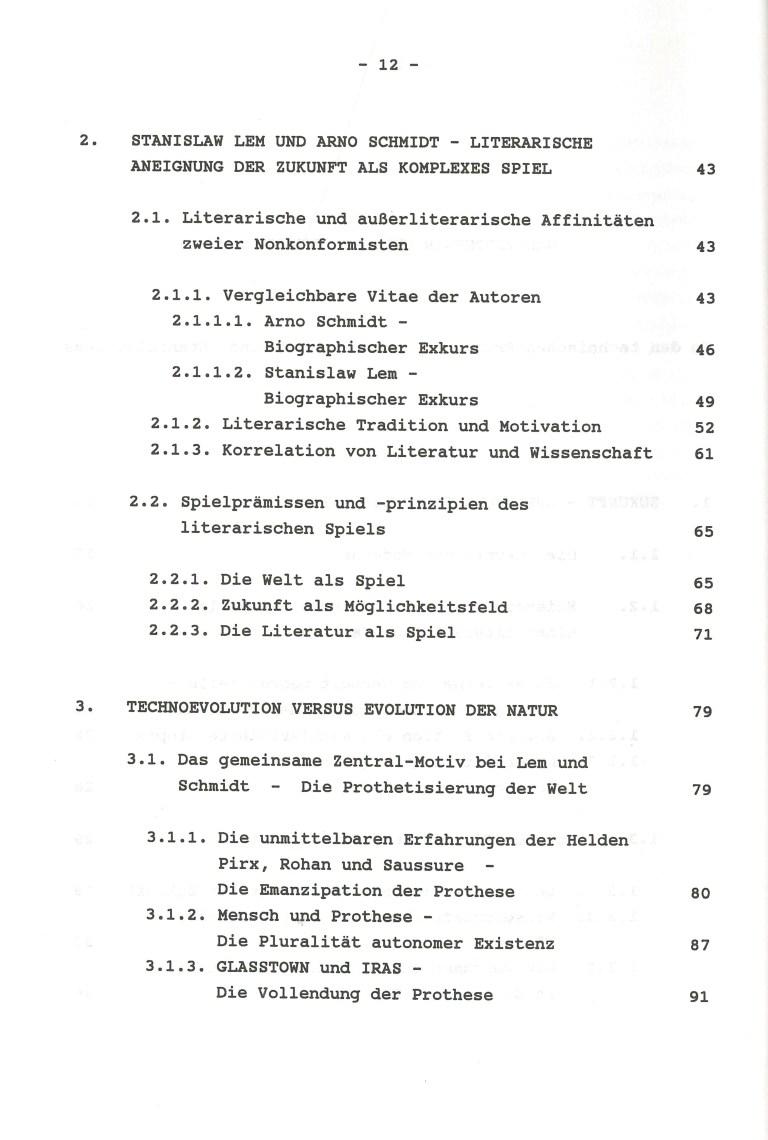 Weltprothesen und Prothesenwelten - Inhalt Seite 2