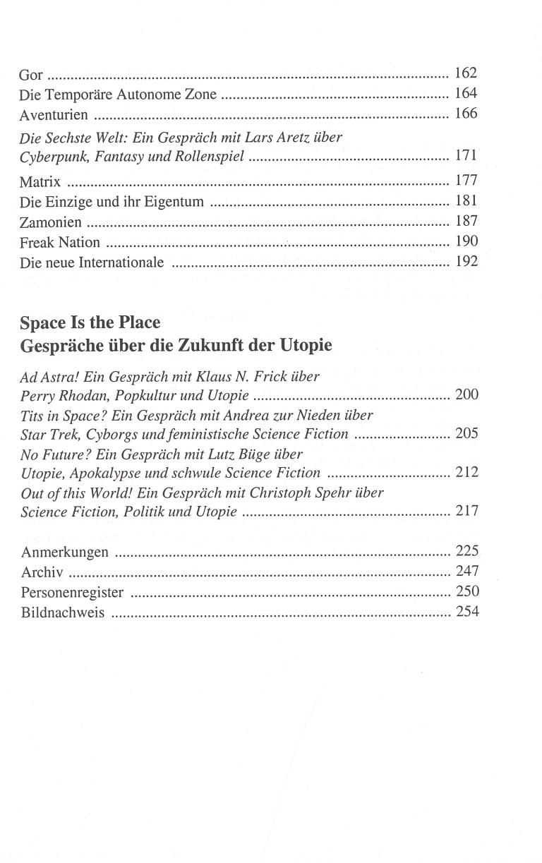 Der Wille zur Utopie - Inhalt Seite 3