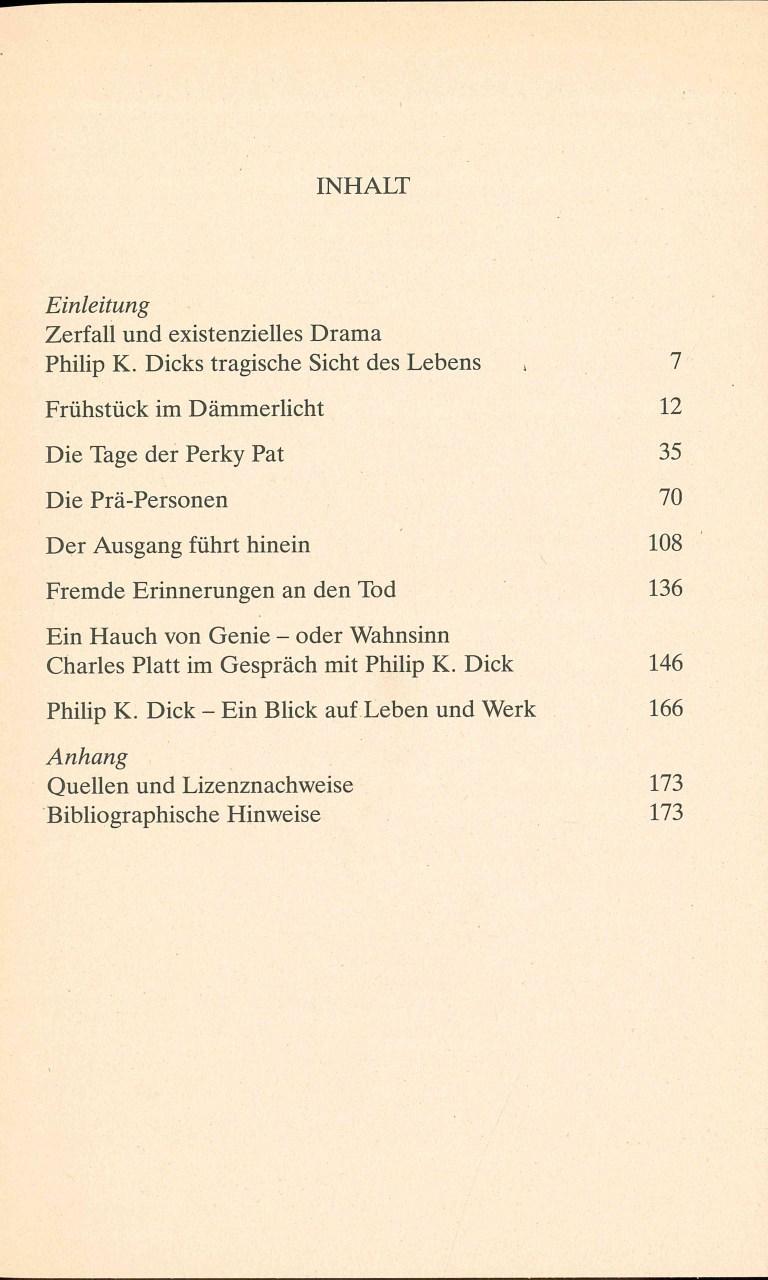 P. K. Dick-Eine Spur Wahnsinn - Inhalt