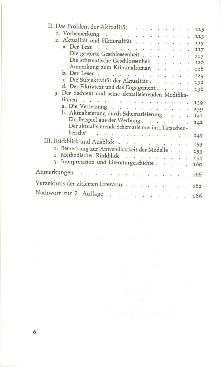 Fiktion und Kommunikation - Inhalt Seite 2