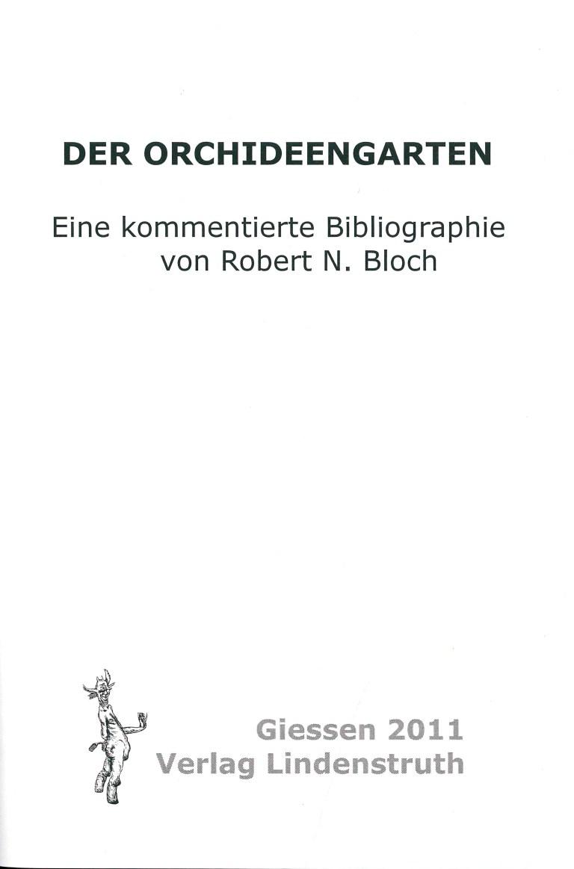 Der Orchideengarten-Bibiographie - Impressum