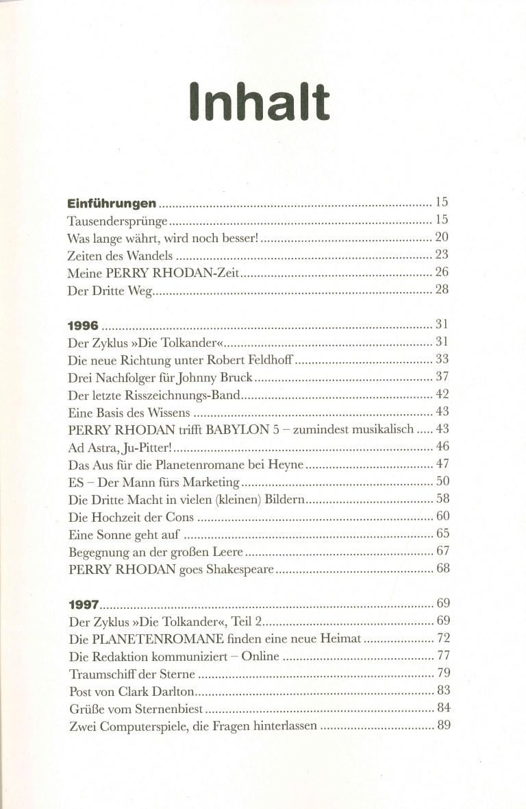 Perra Rhodan, Die Chronik, Band 4 - Inhalt Seite 1