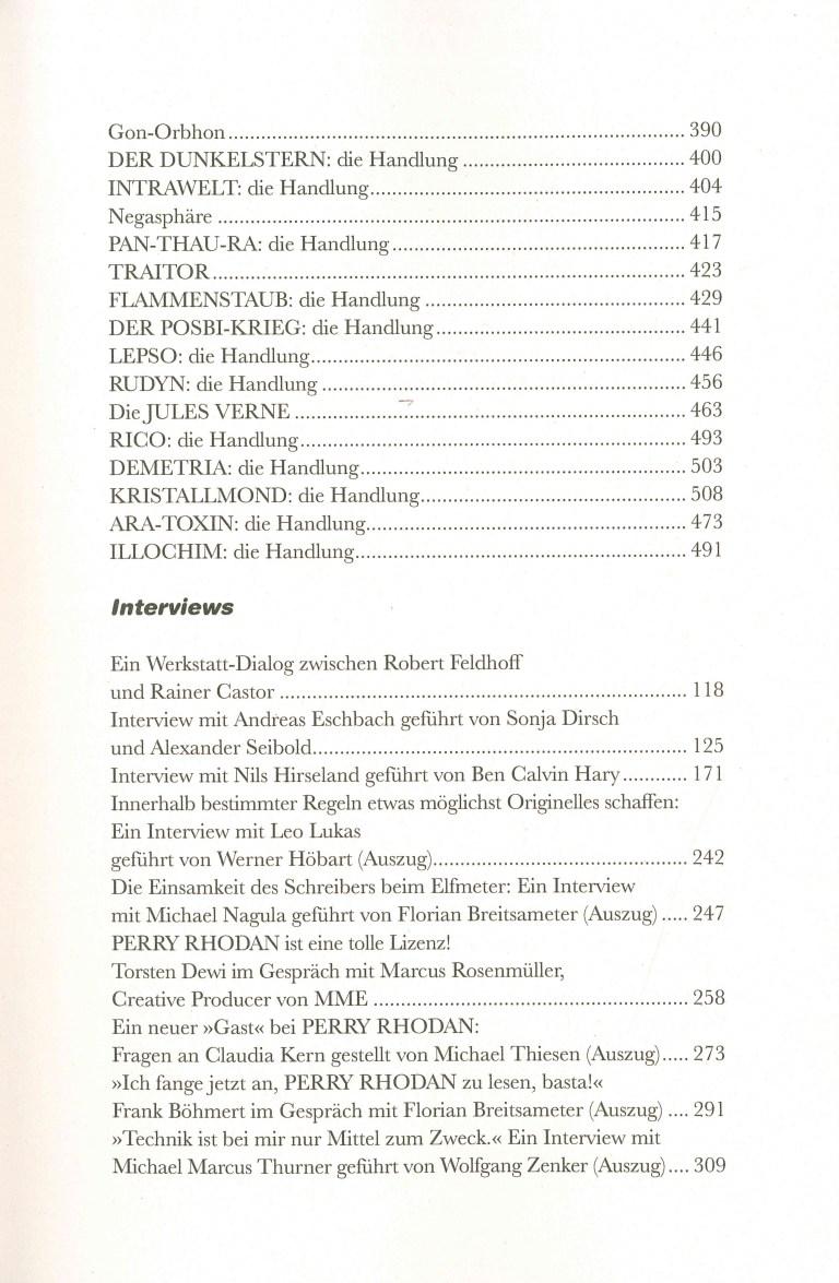 Perra Rhodan, Die Chronik, Band 4 - Inhalt Seite 9