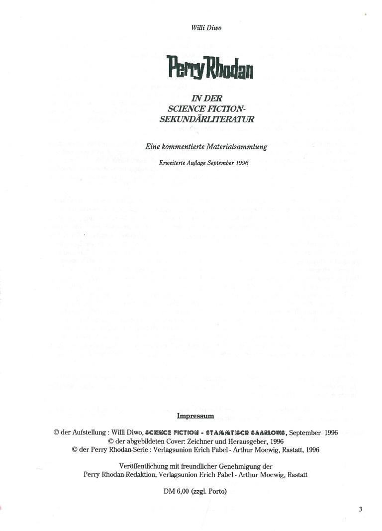 PR in der SF-Sekundärliteratur - Impressum