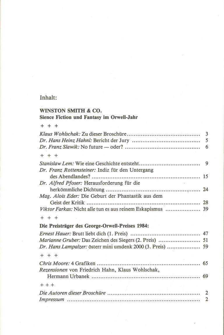 Winston Smith & Co - Inhalt