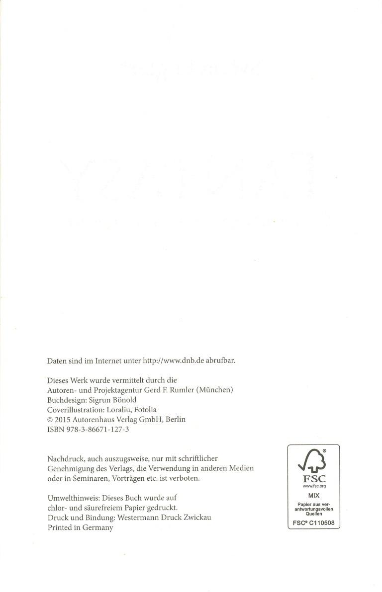 Fantasy schreiben & veröffentlichen - Impressum