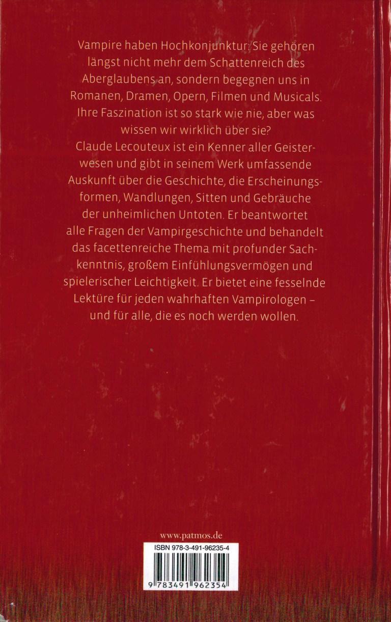 Die Geschichte der Vampire - Rückencover 2