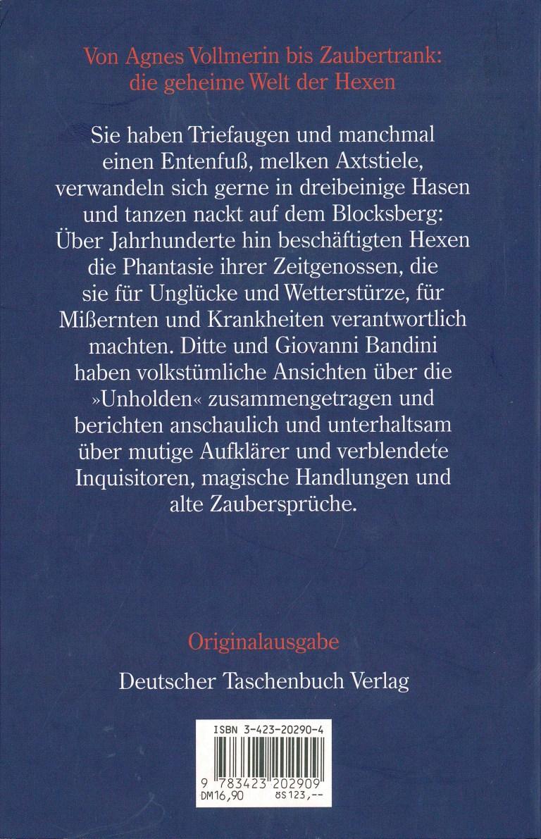 Kleines Lexikon des Hexenwesens - Rückencover