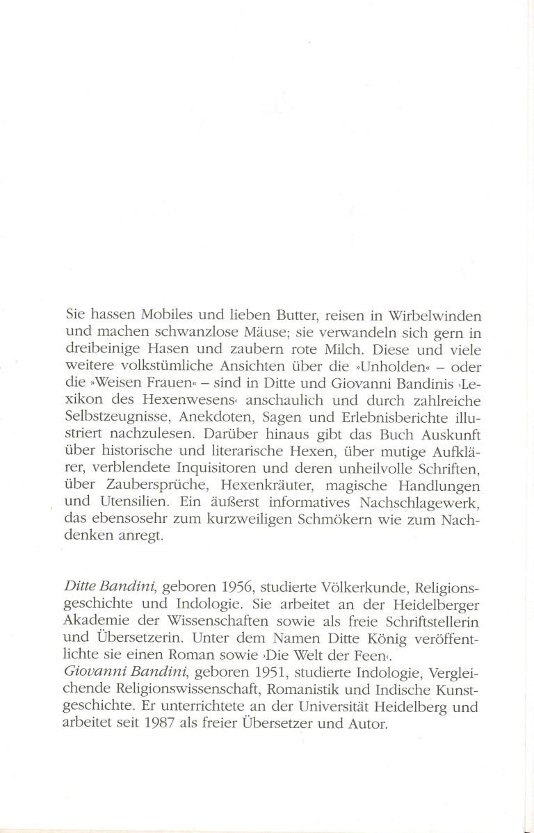 Kleines Lexikon des Hexenwesens - Buchbeschreibung
