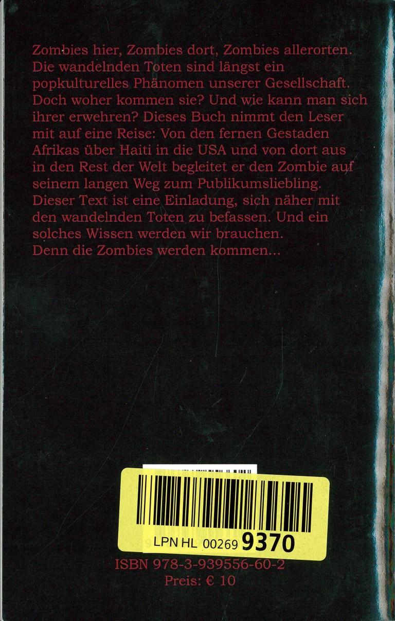 Zombie-Einführung - Rückencover