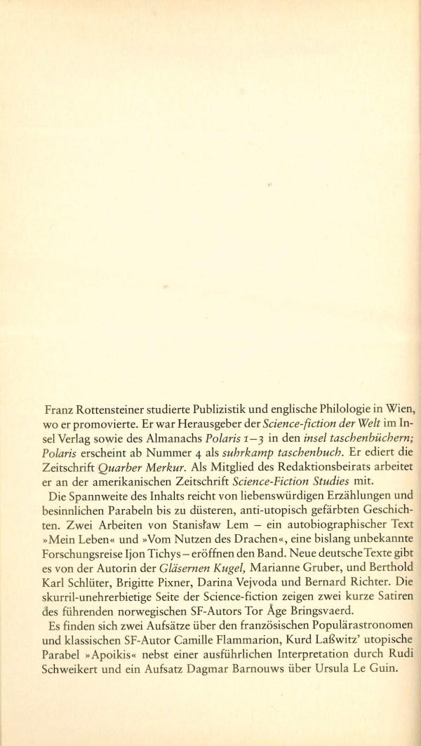 Polaris 8 - Buchbeschreibung