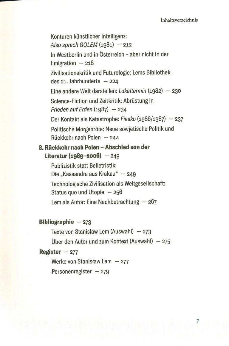 Stanislaw Lem-Leben in der Zukunft - Inhalt Seite 3