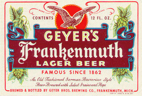 A Relationship of Sebewaing Beer and Geyer's Brothers in
