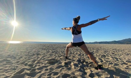 Running Yoga sur le sable