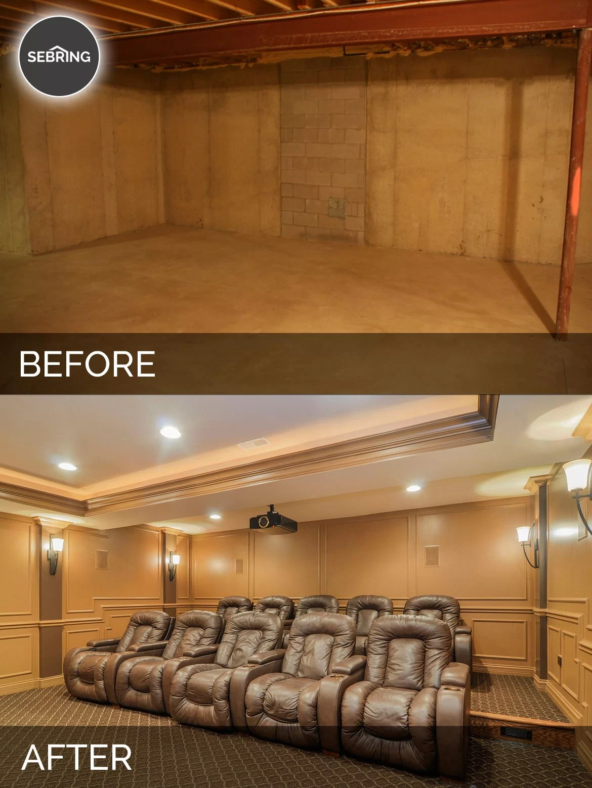 Mark Amp Kim S Basement Before Amp After Pictures Home