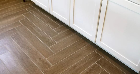 Tile That Looks Like Wood vs Hardwood Flooring   Home Remodeling     Customizable Porcelain Tile That Looks Like Wood