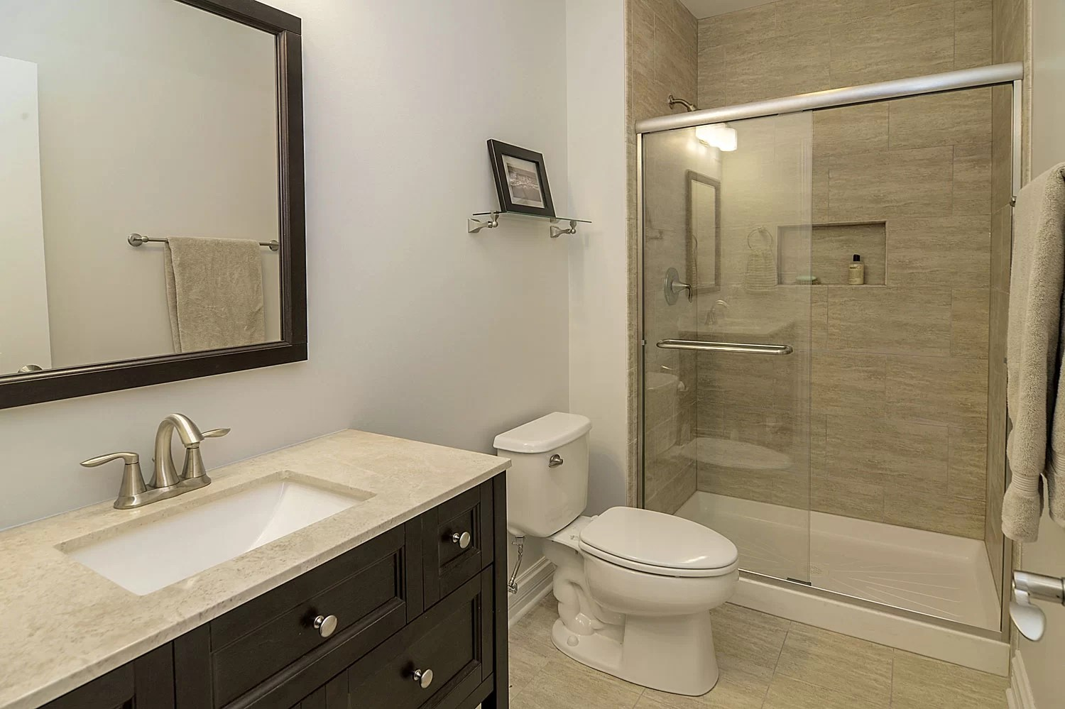 Steve & Emily's Hall Bathroom Remodel Pictures | Home ... on Bathroom Remodel Design Ideas  id=15303