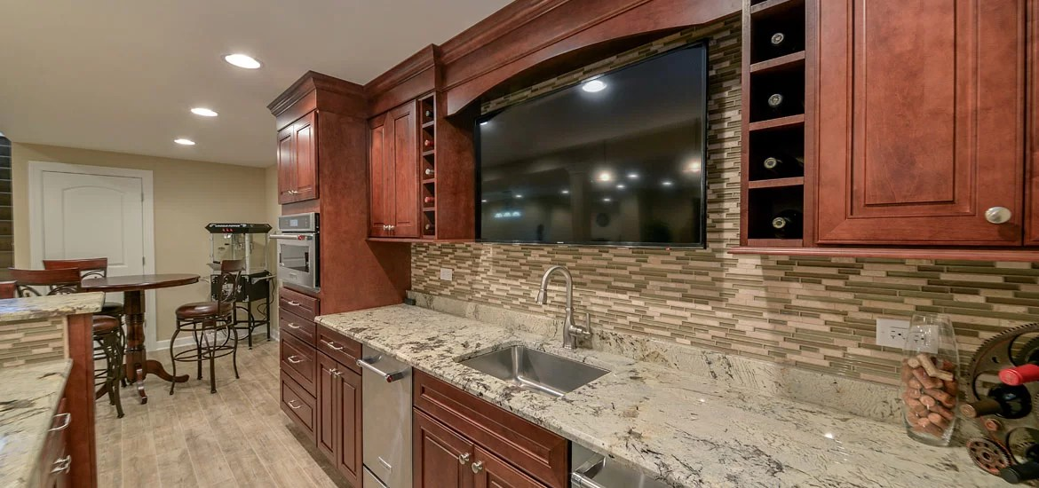 9 Top Trends in Basement Wet Bar Design for 2020 | Home ... on Small Wet Bar In Basement  id=30732
