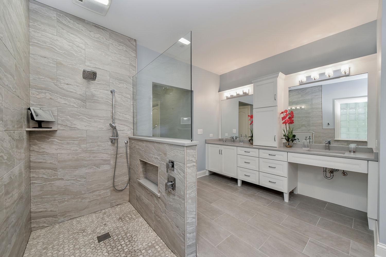 Julie & Jon's Master Bathroom Remodel Pictures | Home ... on Restroom Renovation  id=20913