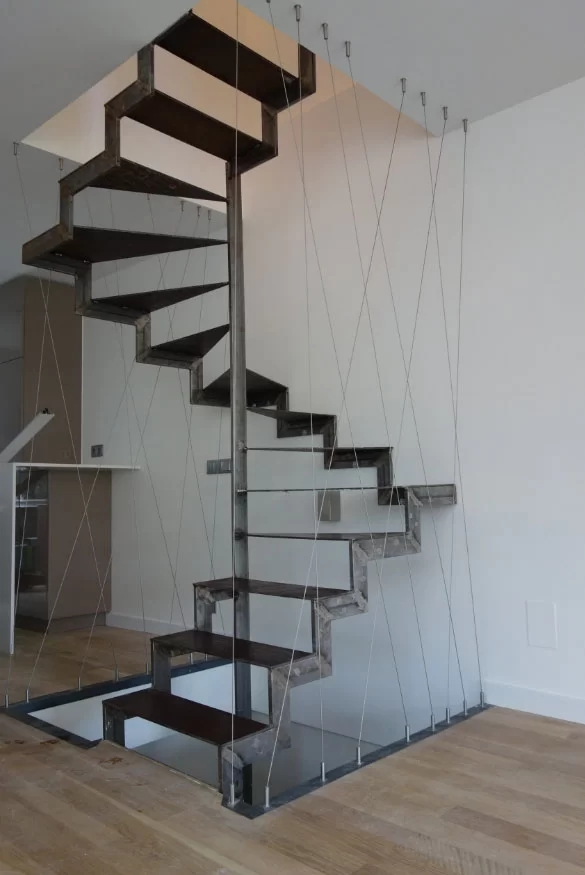 95 Ingenious Stairway Design Ideas For Your Staircase Remodel | Industrial Stair Railing Design | Industrial Style | All Metal Interior | Contemporary Metal | Small Stair | Detail Industrial