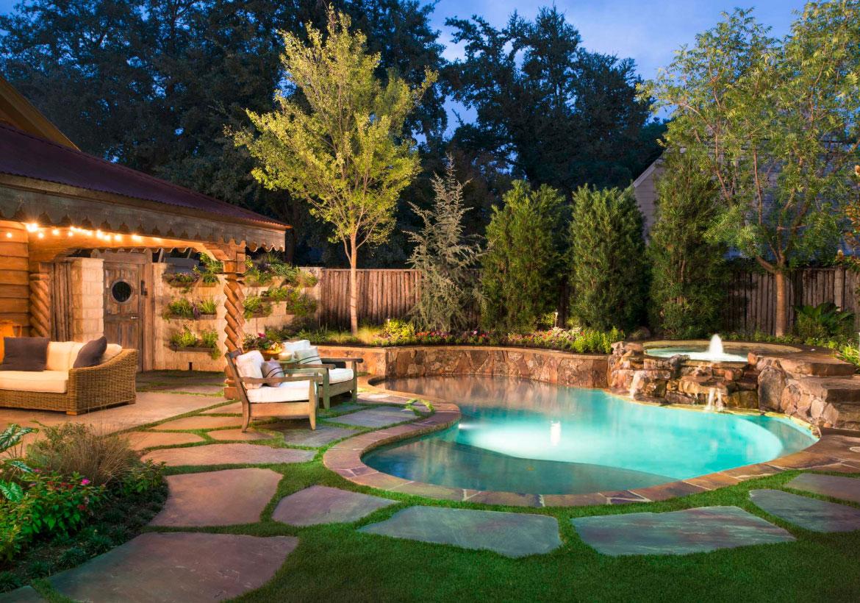 63 Invigorating Backyard Pool Ideas & Pool Landscapes ... on Backyard Pool And Landscaping Ideas id=64944