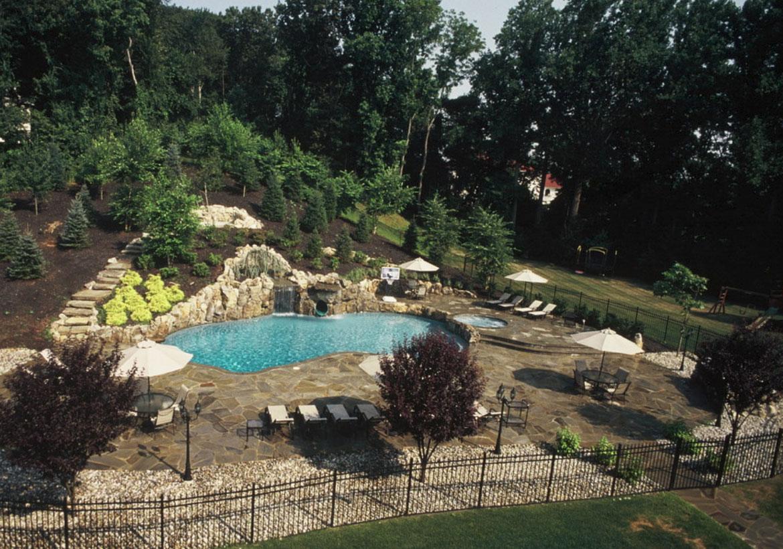 63 Invigorating Backyard Pool Ideas & Pool Landscapes ... on Backyard Pool And Landscaping Ideas id=33030