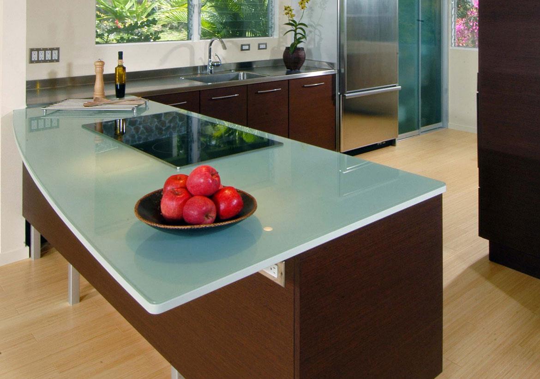 glass kitchen countertop