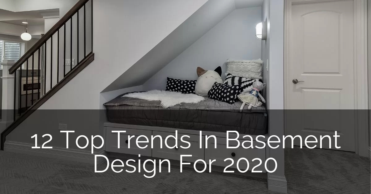 12 Top Trends In Basement Design For 2020 Home Remodeling | Basement Stairs In Middle Of Kitchen | Open Plan | Square Shaped | Finished | Galley | Ranch
