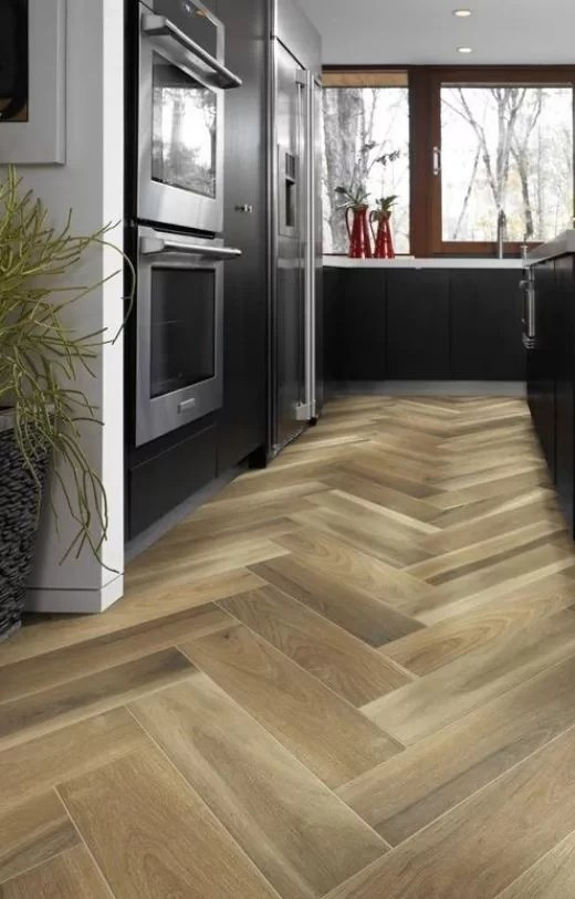 chevron floor design