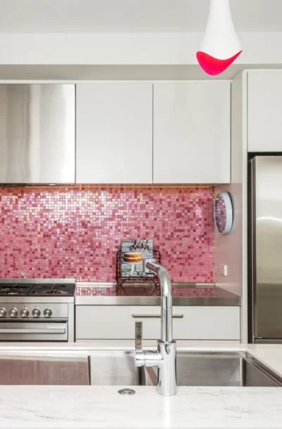 pink tile design ideas for your kitchen
