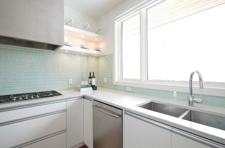 Modern Green Kitchen Backsplash Novocom Top