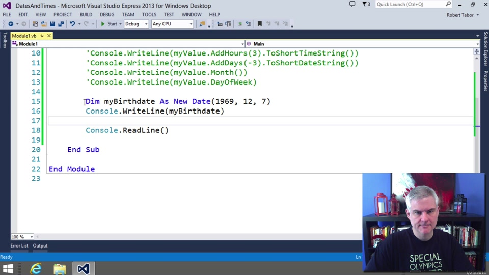 Visual Basic Fundamentals For Absolute Beginners 14