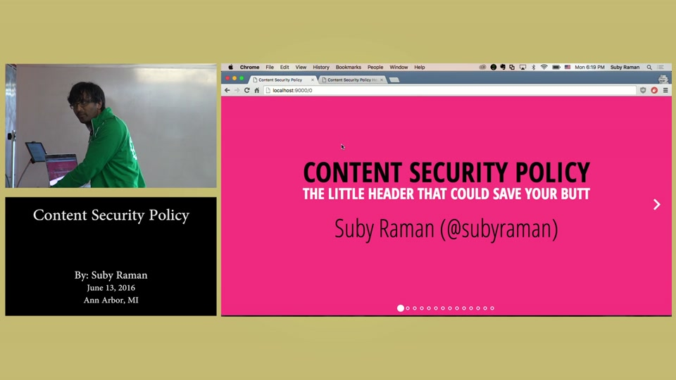 Content Security Policy Yii2