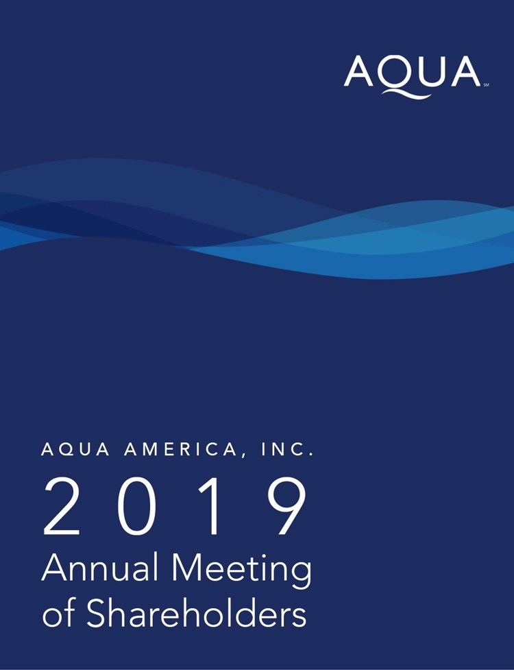 The company noted that in this new position, joyce would direct a core regulatory team at its headquarters that would offer key support functions to a newly decentralized rates operation, the primary work of which would be handled in its regional operations locations. Aqua America Inc 2019 Definitive Proxy Statement Def 14a