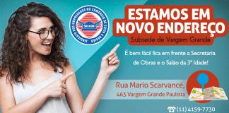 Novo endereço subsede Seccor em vargem Grande Paulista