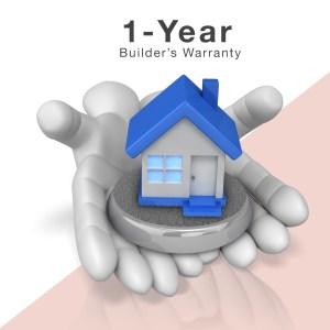 1-year builder's warranty