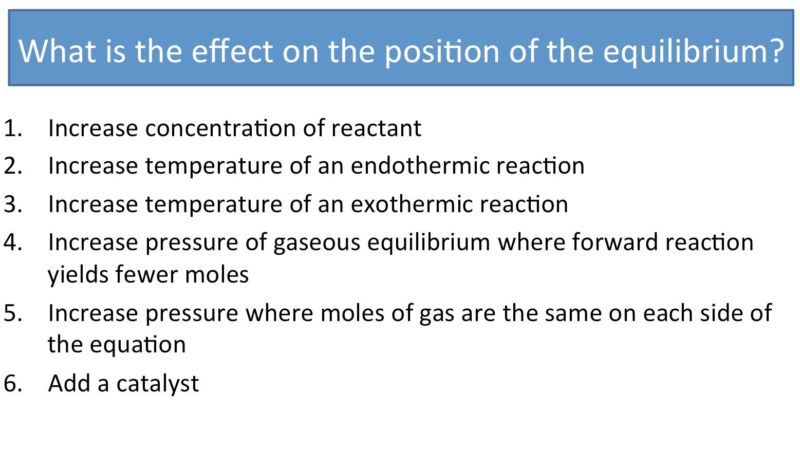Chemical Equilibrium Le Chateliers Principle Lab