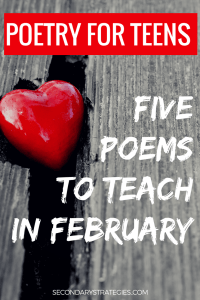 Five Poems for February That Teens Won't Hate