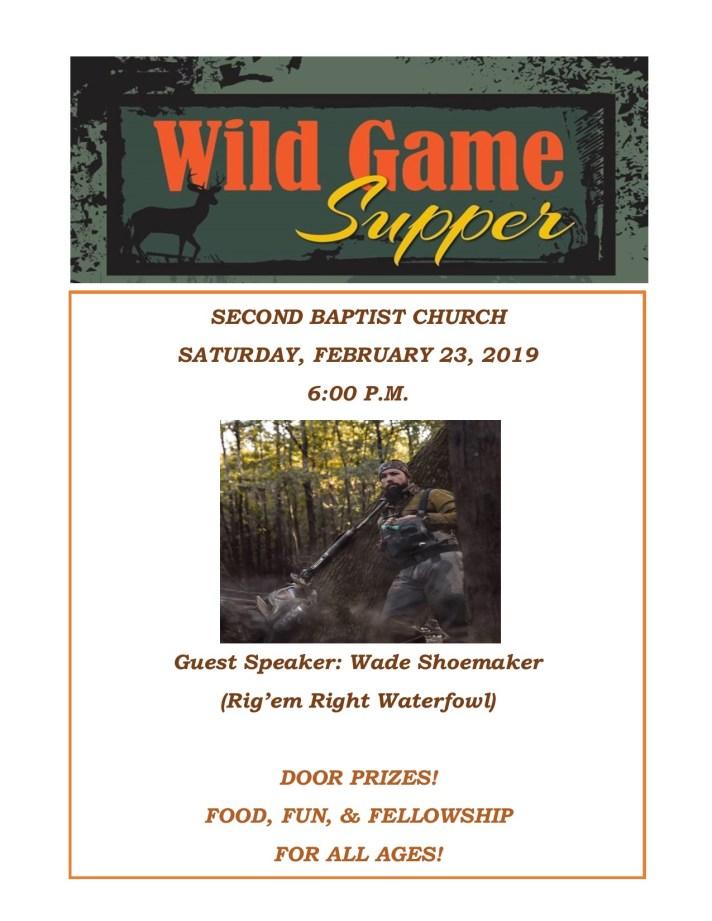 wild game flyer