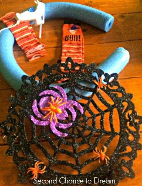 Halloween wreath supplies