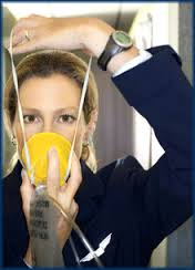Flight Attendant, Oxygen mask, taking care of yourself