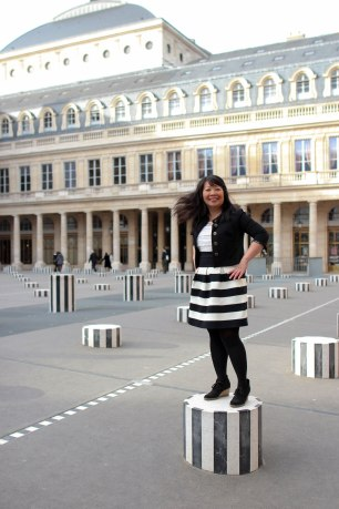 My hair twist at the Palais Royal