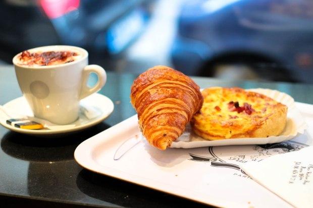 Breakfast of champions in Paris