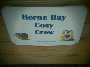 Yarn bombing in Herne Bay