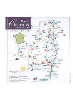 La route des châteaux en Bourgogne