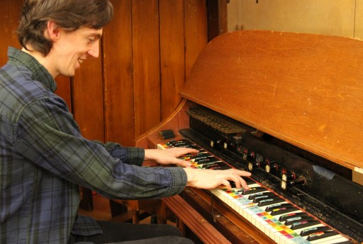 Charles Corey with Chromelodeon - Photo by Maggie Molloy