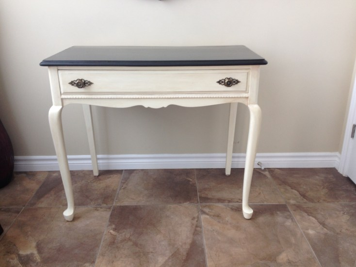 Painted and refinished table