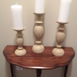 Painted candle holders