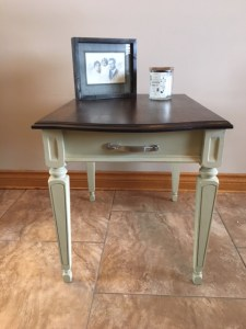 Painted and refinished side table