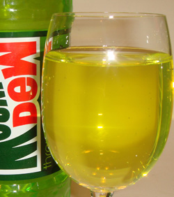 Image result for mountain dew in a glass
